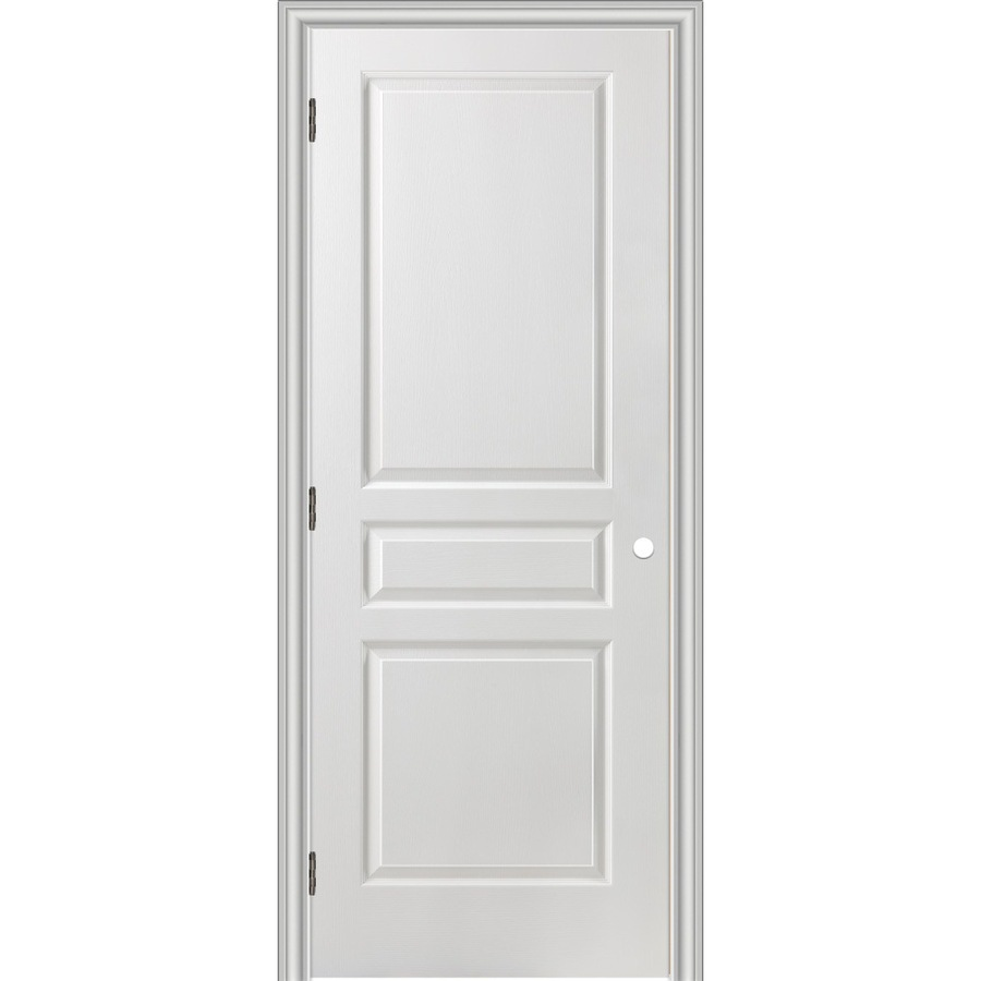 Shop Reliabilt 28 In X 80 In 3 Panel Square Hollow Textured Molded Composite Right Hand Interior