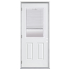ReliaBilt 2-Panel Insulating Core Blinds Between The Glass Half Lite Right-Hand Outswing Primed Fiberglass Prehung Entry Door (Common: 36-in x 80-in; Actual: 37.5-in x 80.375-in)