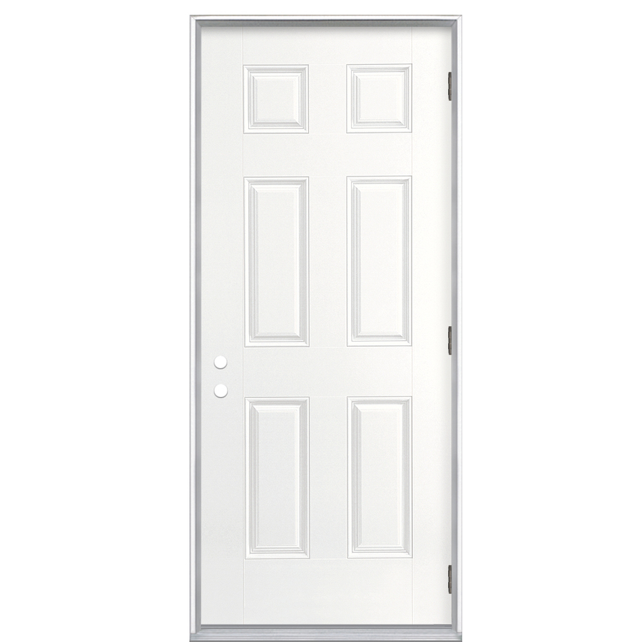 Shop reliabilt 36 in outswing fiberglass entry door at for Lowes exterior doors