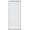 ReliaBilt 6-Panel Insulating Core Right-Hand Inswing Primed Steel Prehung Entry Door (Common: 32-in x 74-in; Actual: 33.5-in x 75.5-in)