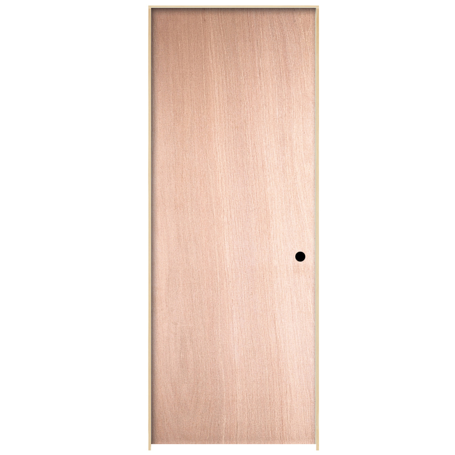 Shop reliabilt flush hollow core no skin lauan left hand interior single prehung door common - Hollow core interior doors lowes ...