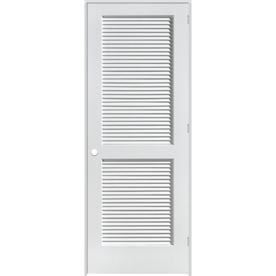 ReliaBilt Louvered Solid Pine Left-Hand Interior Single Prehung Door (Common: 26-in x 80-in; Actual: 27.75-in x 81.75-in)