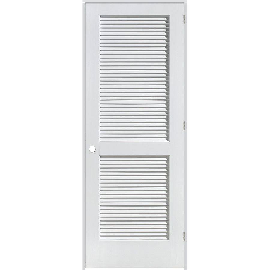 Shop reliabilt louvered solid pine left hand interior Prehung louvered interior doors