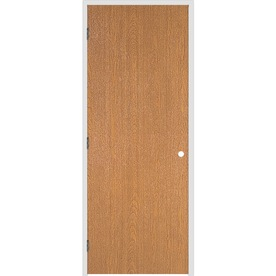 Shop Reliabilt Prehung Hollow Core Flush Lauan Interior Door Common 26 In X 80 In Actual 27