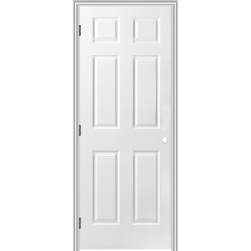 Shop Reliabilt Prehung Hollow Core 6 Panel Interior Door Common 34 In X 80 In Actual 35 5 In