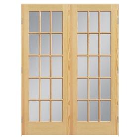 Shop reliabilt prehung solid core 15 lite clear pine for 15 x 80 closet door