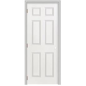 Shop Masonite Prehung Hollow Core 6 Panel Interior Door Common 28 In X 78 In Actual 29 5 In