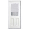Masonite 2-Panel Insulating Core Blinds and Grilles Between The Glass Half Lite Left-Hand Inswing Primed Steel Prehung Entry Door (Common: 32-in x 80-in; Actual: 33.5-in x 81.5-in)