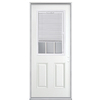 Masonite 2-Panel Insulating Core Blinds and Grilles Between The Glass Half Lite Right-Hand Inswing Primed Steel Prehung Entry Door (Common: 32-in x 80-in; Actual: 33.5-in x 81.5-in)