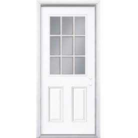 Shop masonite 2 panel insulating core 9 lite left hand for Upvc front door 78 x 30