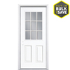 Masonite 2-Panel Insulating Core 9-Lite Right-Hand Inswing Primed Steel Prehung Entry Door (Common: 36-in x 80-in; Actual: 37.5-in x 81.5-in)