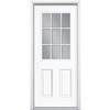 Masonite 2-Panel Insulating Core 9-Lite Right-Hand Inswing Primed Steel Prehung Entry Door (Common: 32-in x 74-in; Actual: 33.5-in x 75.5-in)