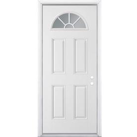 Shop masonite 4 panel insulating core fan lite left hand for Door 31 5 x 79