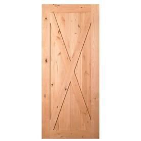 Shop masonite solid core crosshead knotty alder barn for 32 inch sliding barn door