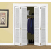 ReliaBilt White Solid Core Full Louver Pine Bi-Fold Closet Interior Door (Common: 24-in x 80-in; Actual: 23.5-in x 79-in)