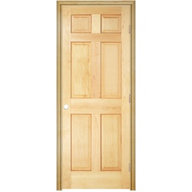 Shop Reliabilt Prehung Solid Core 6 Panel Pine Interior Door Common 36 In X 78 In Actual 37