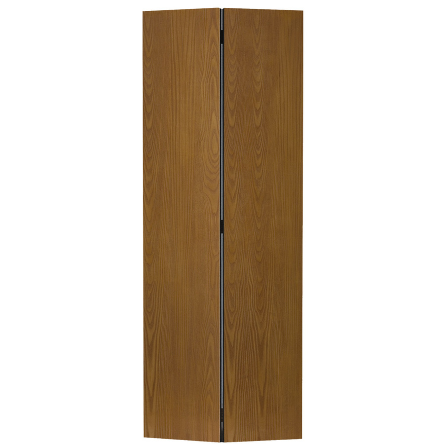 Shop reliabilt 30 in x 80 1 2 in flush hollow core oak interior bifold closet door at - Hollow core interior doors lowes ...