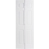 ReliaBilt 18-in x 80-in 6-Panel Hollow Core Molded Composite Interior Bifold Closet Door