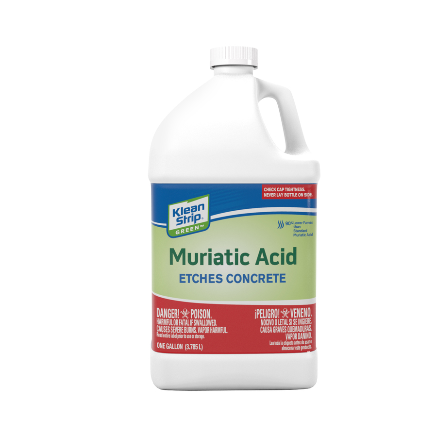 Shop klean strip ks green safer muriatic acid gallon at How to add muriatic acid to swimming pool