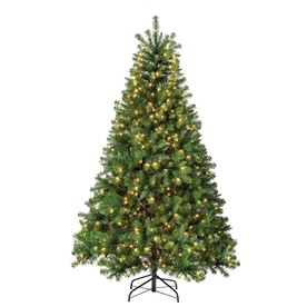 Holiday Living 6-1/2-ft Pine Pre-lit Artificial Christmas Tree with 500-Count Clear Lights