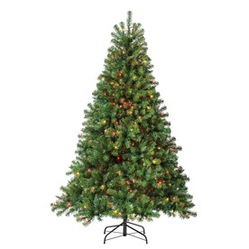 Holiday Living 6-1/2-ft Pine Pre-lit Artificial Christmas Tree with 500-Count Multicolor Lights