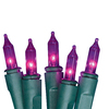 Holiday Living 100-Count Mini Purple Christmas String Lights