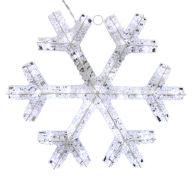 Holiday Living Lighted Snowflake Hanging Sculpture Outdoor Christmas Decoration with White LED Lights