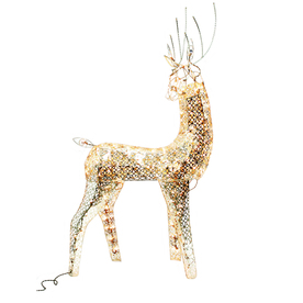 Holiday Living 4-ft Gold Metallic Christmas Deer