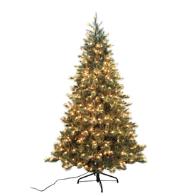 Holiday Living 7.5-ft Pine Pre-lit Artificial Christmas Tree with 600-Count Clear Lights