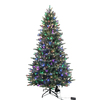 Holiday Living 7.5-ft Pine Pre-lit Artificial Christmas Tree with 600-Count Multicolor LED Lights