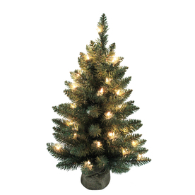 Shop Holiday Living Christmas Plastic 2 ft Pre Lit Tree