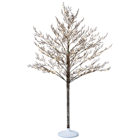 Holiday Living 5-ft Indoor/Outdoor Pine Pre-Lit Decorative Artificial Tree 108 White Led Lights