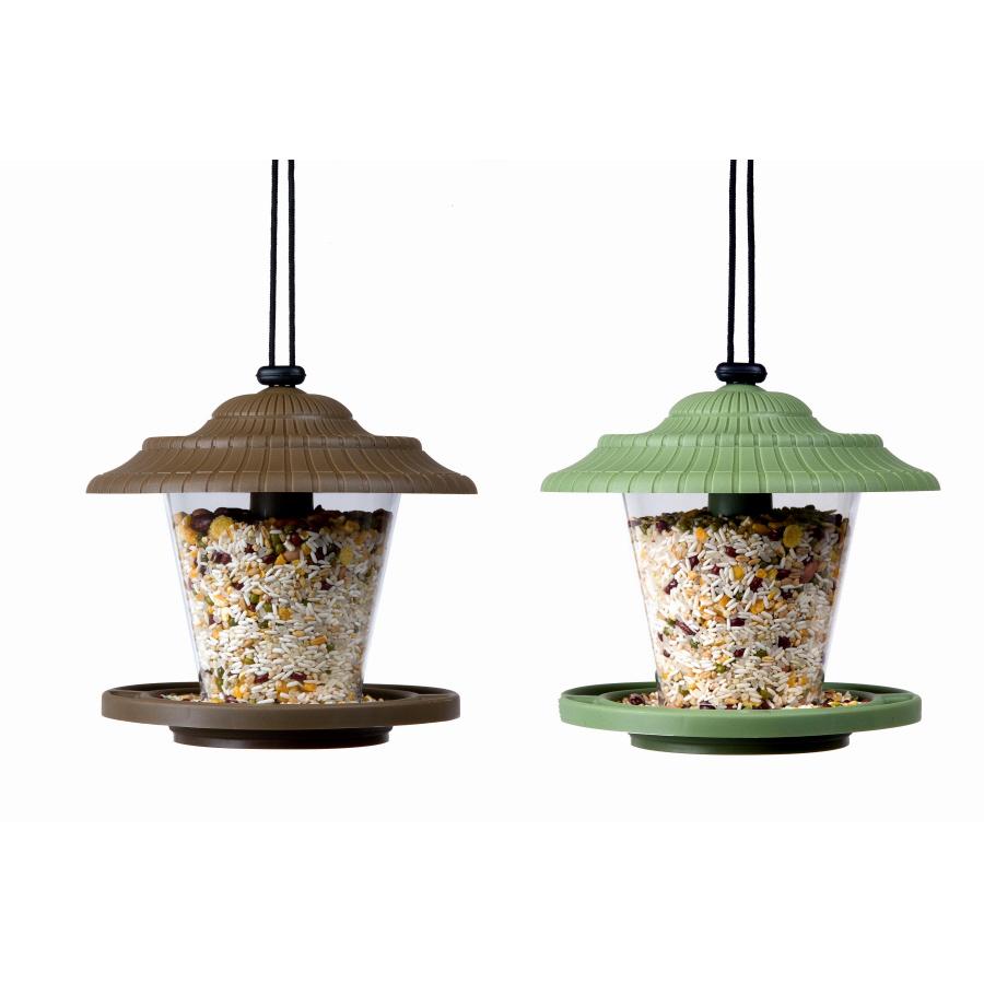 Shop garden treasures plastic bird feeder at for Plastic bird feeders