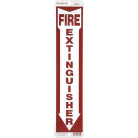 The Hillman Group 18-in x 4-in Fire Extinguisher Sign