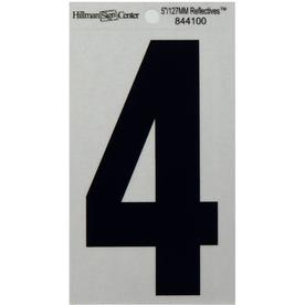 The Hillman Group 5-in Reflective Black House Number 4