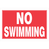 The Hillman Group 8-in x 12-in Swimming Sign