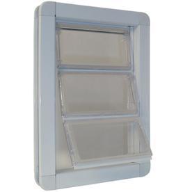shop ideal pet products x large white aluminum pet door
