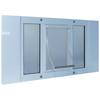Ideal Pet Products Aluminum Sash Window Small White Aluminum Window Pet Door (Actual: 7-in x 5-in)