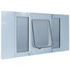 Ideal Pet Products Aluminum Sash Window Medium White Aluminum Window Pet Door (Actual: 10.5-in x 7.5-in)