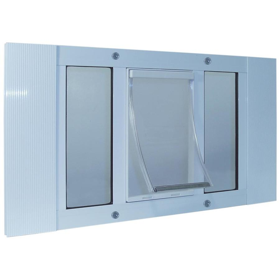 Shop ideal pet products x large white aluminum window pet for Ideal dog door