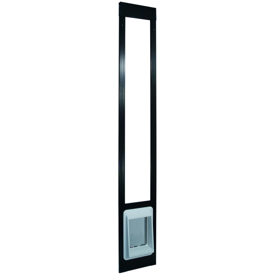 Shop Small Bronze Aluminum Sliding Pet Door Actual X