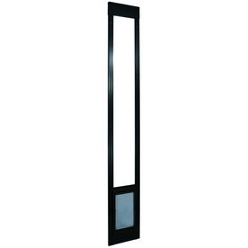 Medium Bronze Aluminum Sliding Pet Door (Actual: 11.25-in x 7-in)
