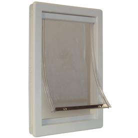 Ideal Pet Products Medium Cream Plastic Pet Door (Actual: 11.25-in x 7-in)