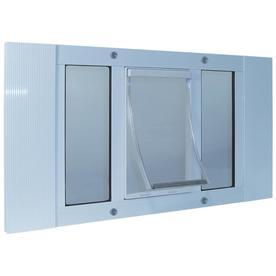 Ideal Pet Products Medium White Aluminum Window Pet Door (Actual: 11.25-in x 7-in)
