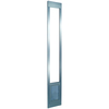 Medium Silver Aluminum Sliding Pet Door