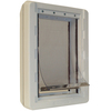 X-Large Cream Plastic Pet Door (Actual: 23.5-in x 15-in)