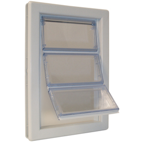 Ideal Pet Products Large White Plastic Pet Door (Actual: 15.75-in x 10.25-in)