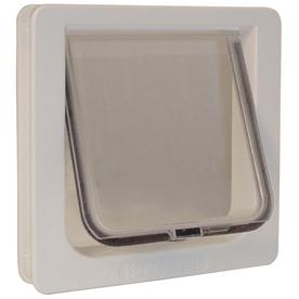 Ideal Pet Products Small Cream Plastic Pet Door (Actual: 6.25-in x 6.25-in)