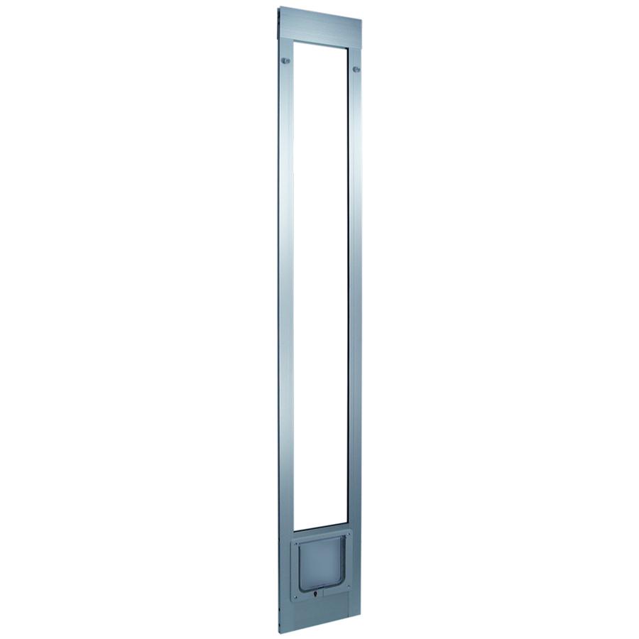 shop small silver aluminum sliding pet door actual