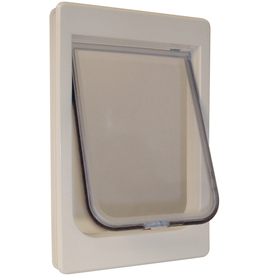 Ideal Pet Products Medium Cream Plastic Pet Door (Actual: 10.5-in x 7.5-in)